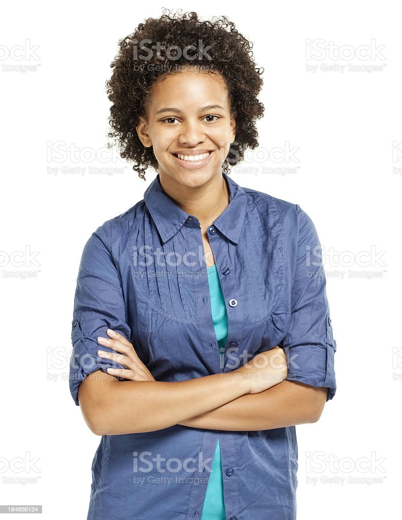 Confident Young Teenager - Isolated stock photo