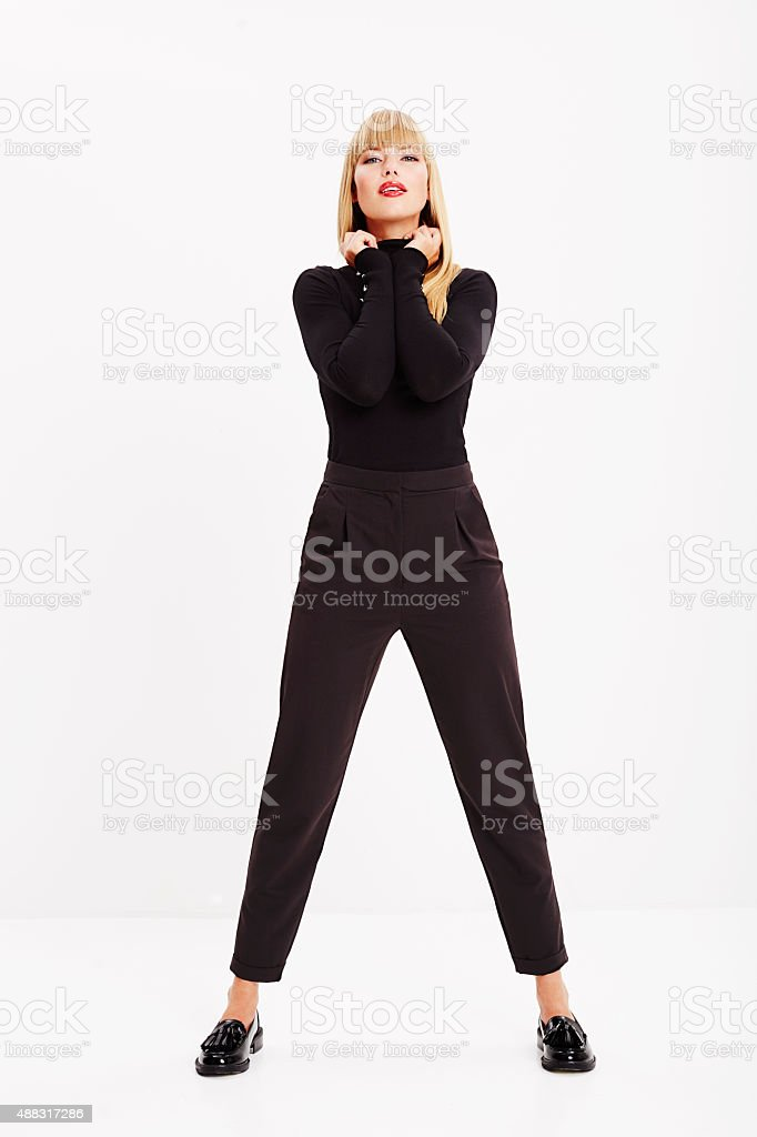 Confident young woman stock photo