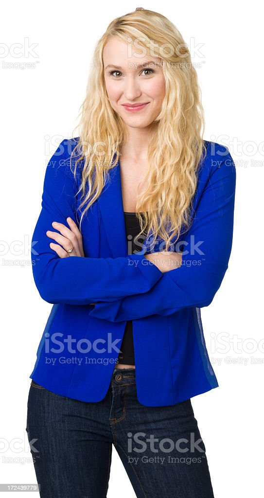Confident Young Woman Posing royalty-free stock photo