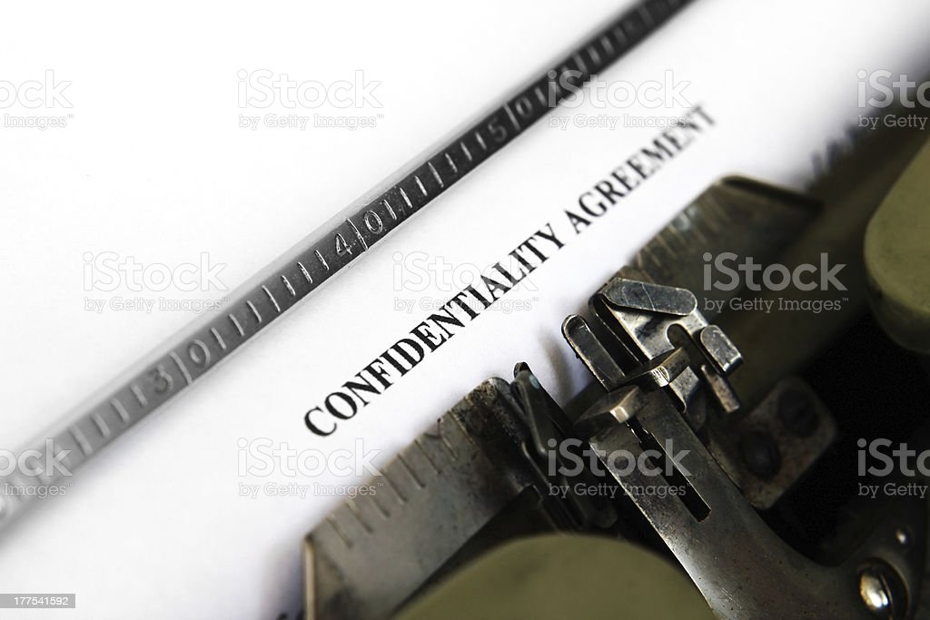 Confidential agreement royalty-free stock photo