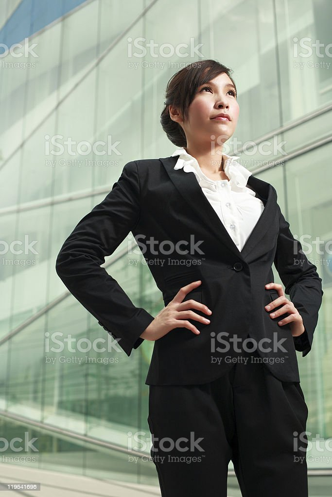 Confidential asian businesswoman royalty-free stock photo