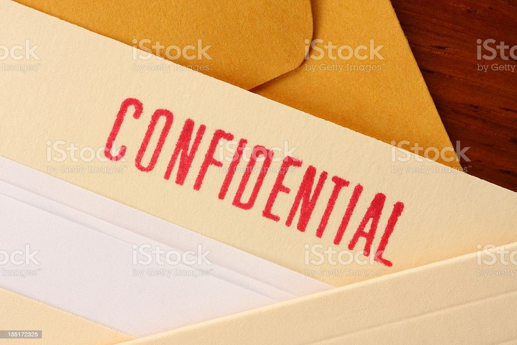Confidential contents royalty-free stock photo