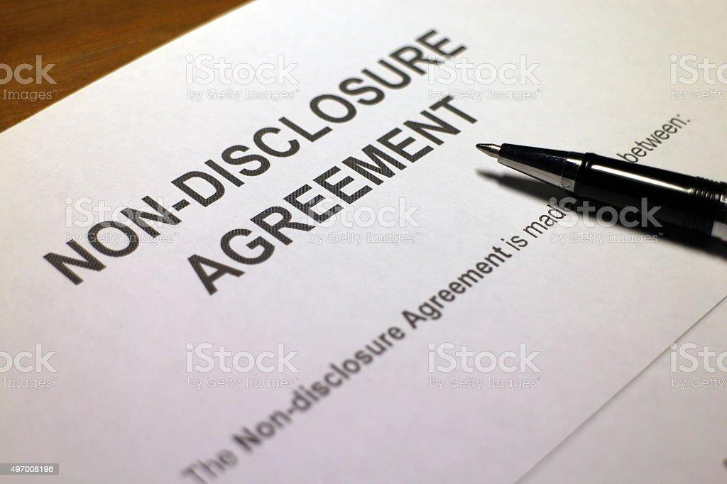 Confidential Disclosure Agreement stock photo