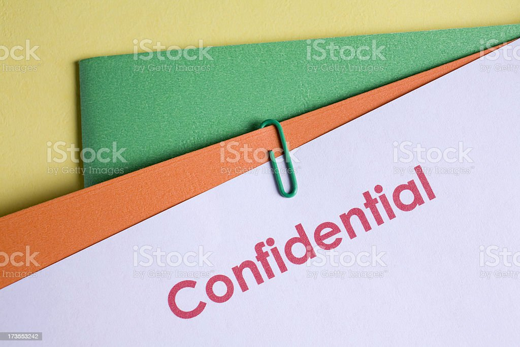 Confidential documents royalty-free stock photo