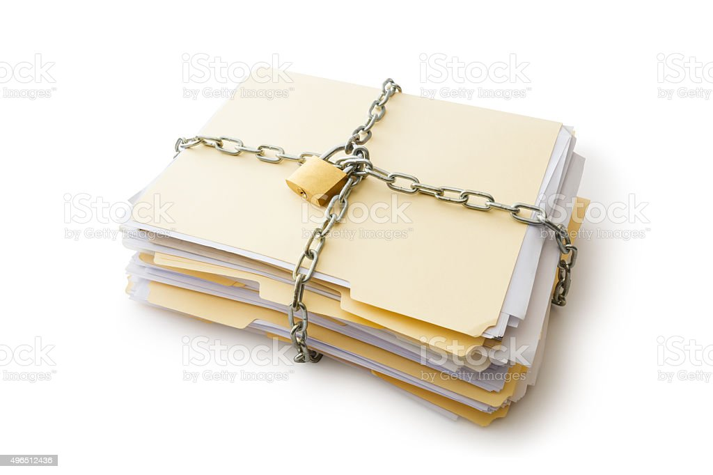 Confidential documents stock photo