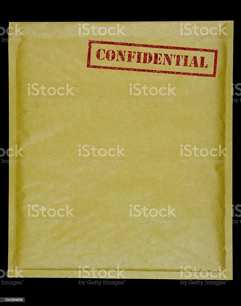 Confidential Envelope stock photo