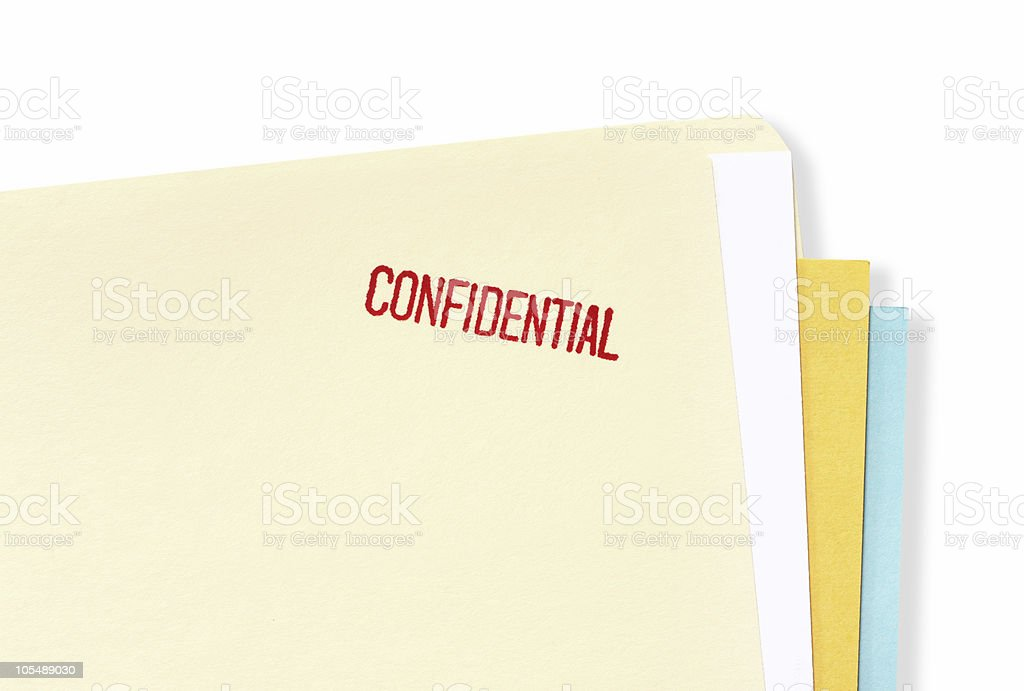 Confidential File Folder stock photo