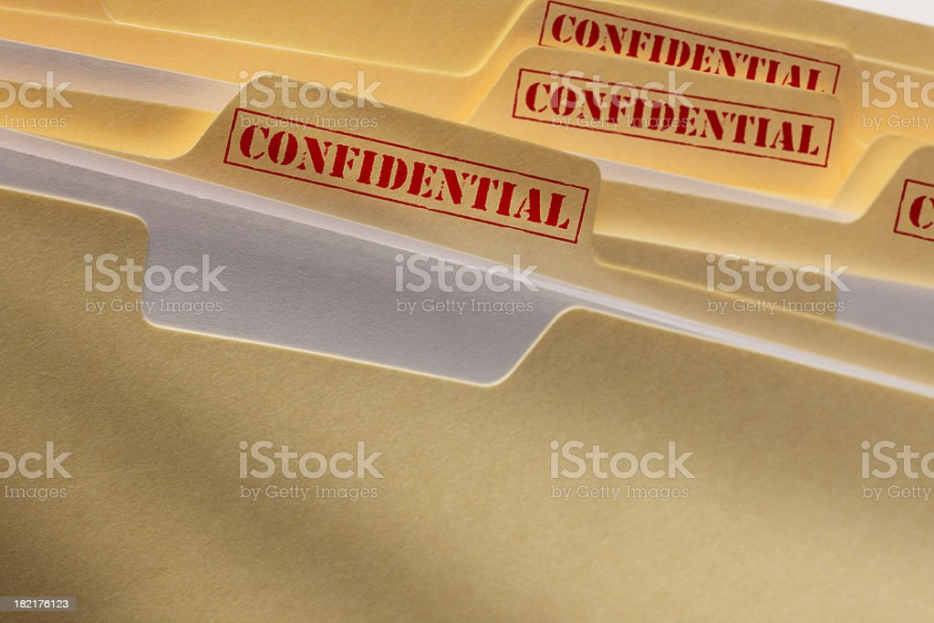 Confidential Files stock photo