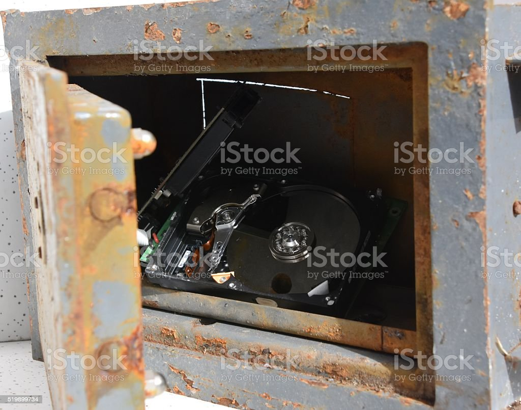 Confidential information in vault stock photo