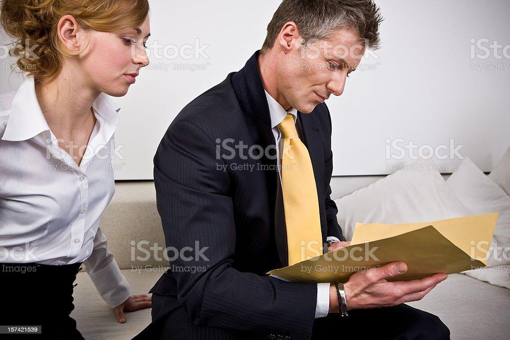 Confidential information stock photo