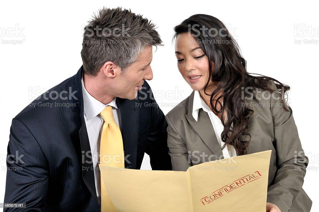 Confidential meeting stock photo