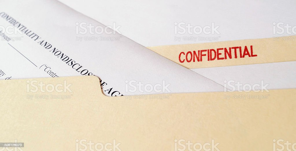 Confidential Nondisclosure Agreement stock photo