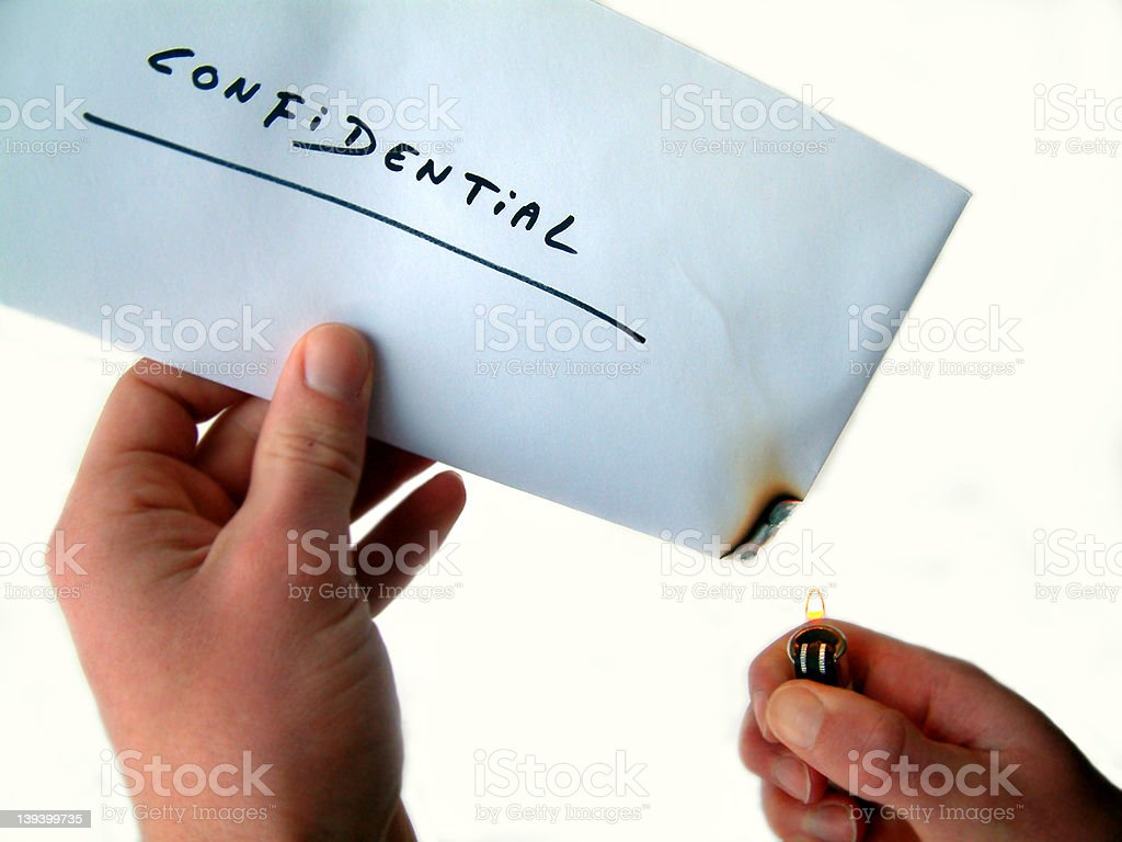 confidential royalty-free stock photo