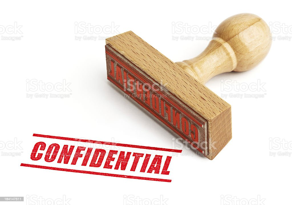 Confidential stock photo
