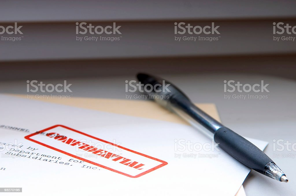 Confidential Report #2 royalty-free stock photo