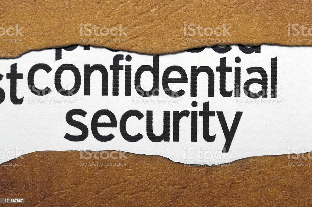 Confidential security concept stock photo