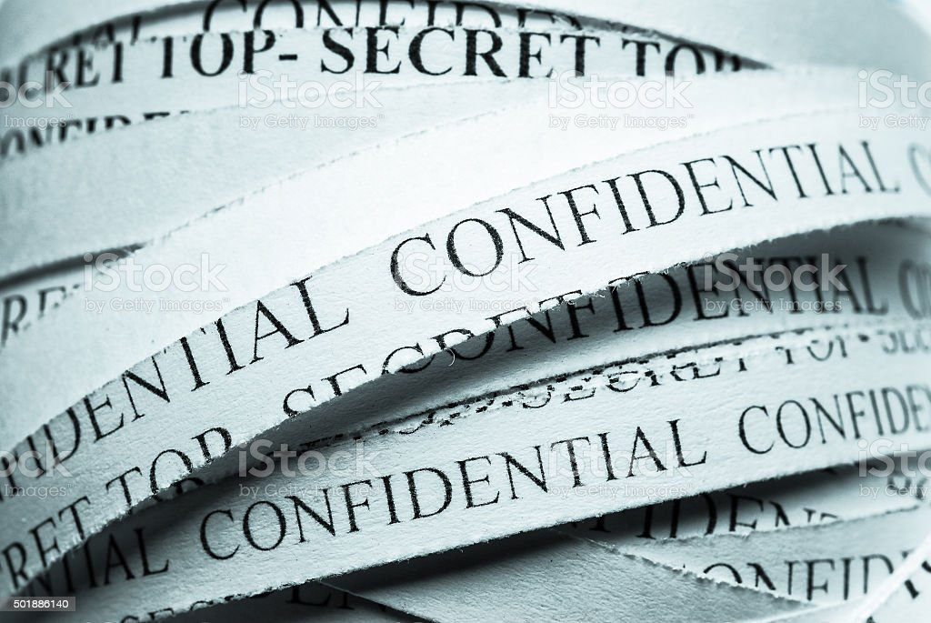 Confidential shredded Files stock photo