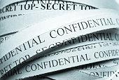 Confidential shredded Files