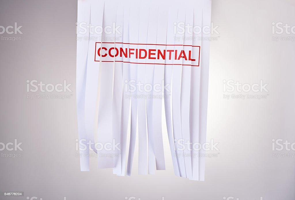 Confidentiality intact stock photo