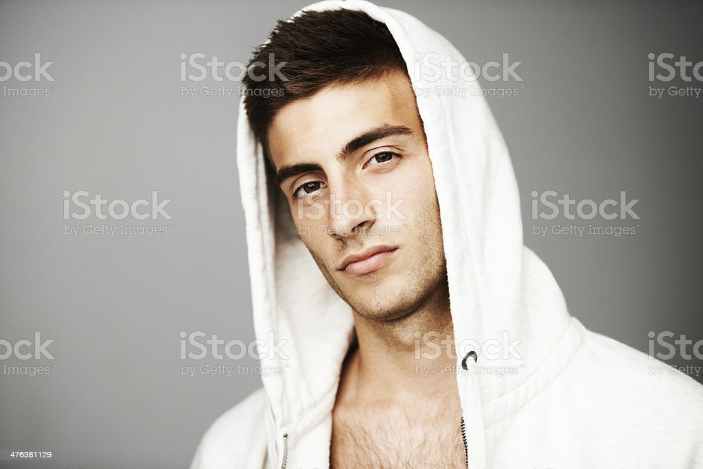 Confidently cool royalty-free stock photo