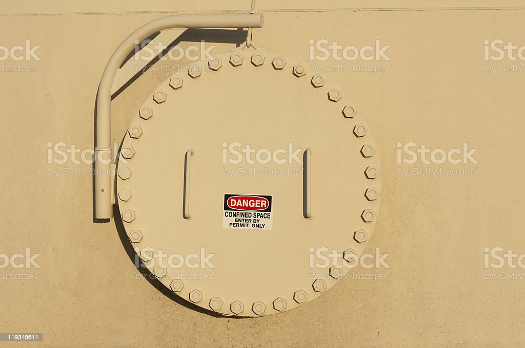 Confined space stock photo