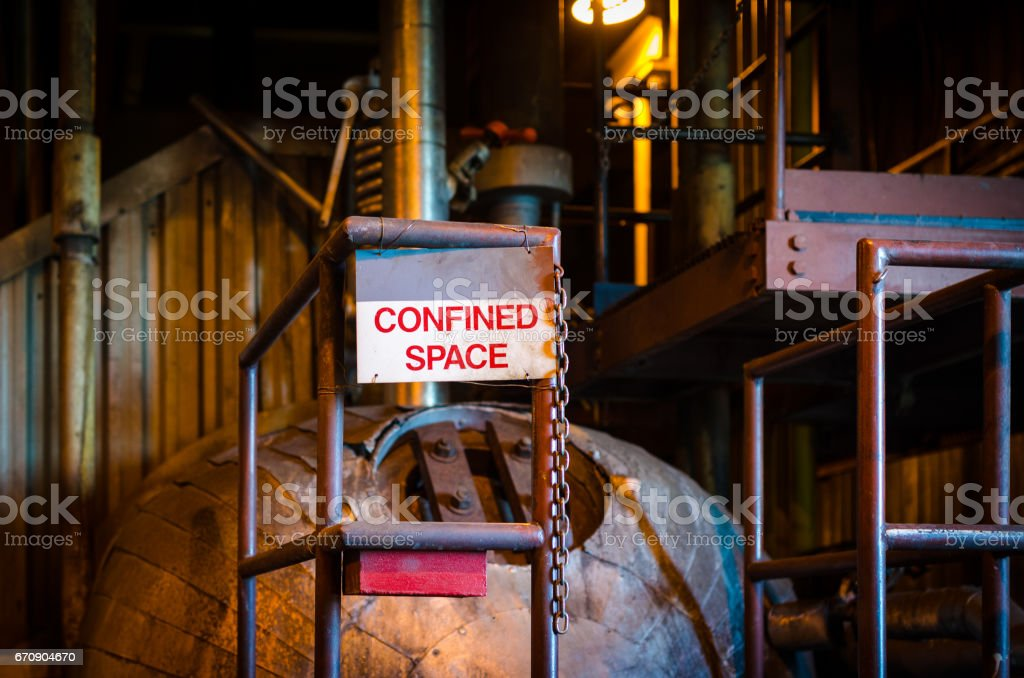 Confined space. stock photo