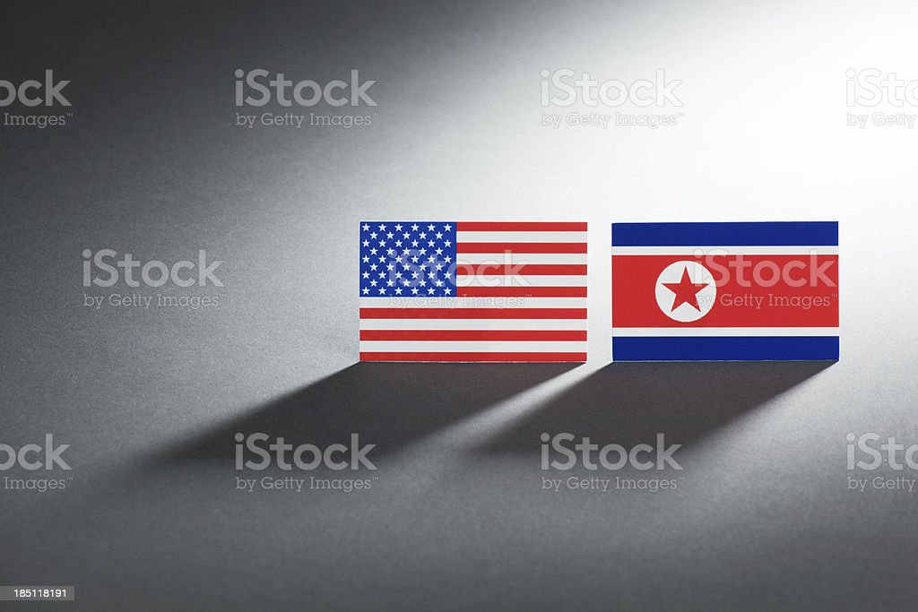 Conflict Between USA and North Korea (DPRK) Hz royalty-free stock photo