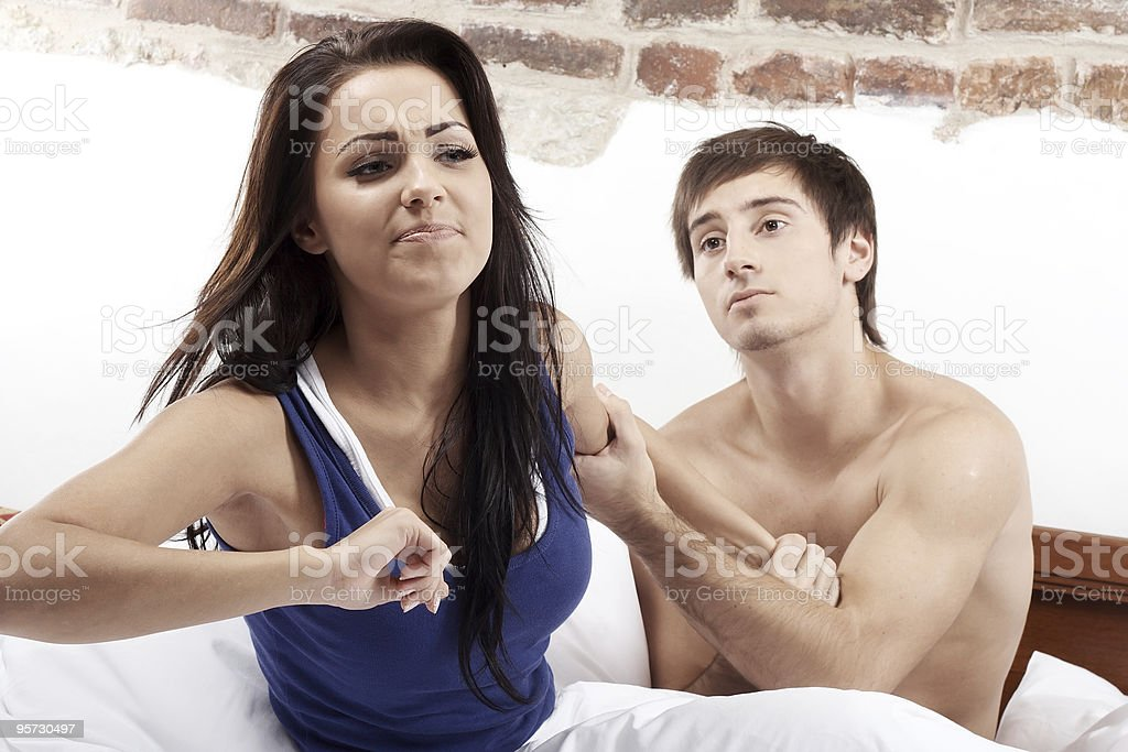 Conflict couple royalty-free stock photo