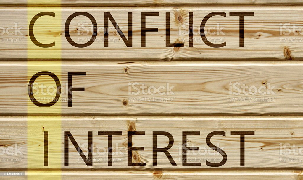 conflict of interest stock photo