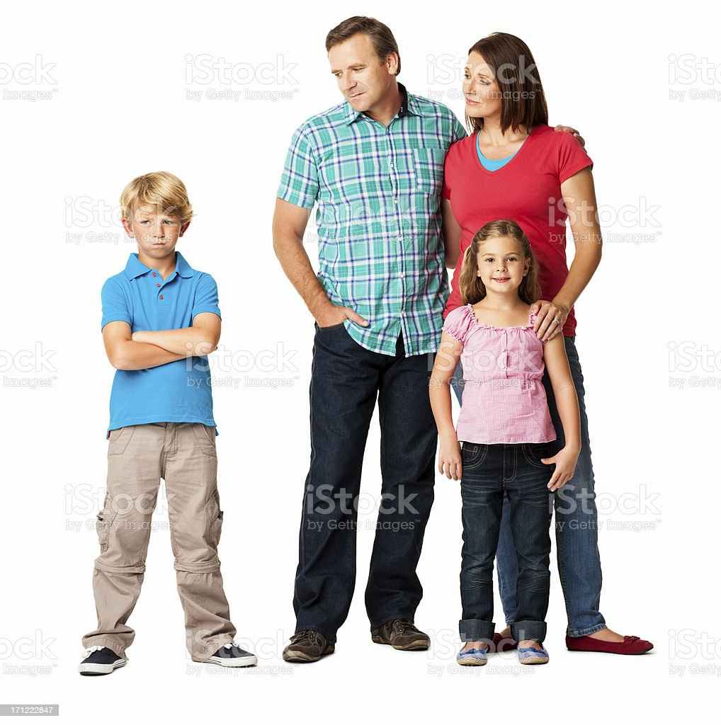 Conflict With Family - Isolated royalty-free stock photo