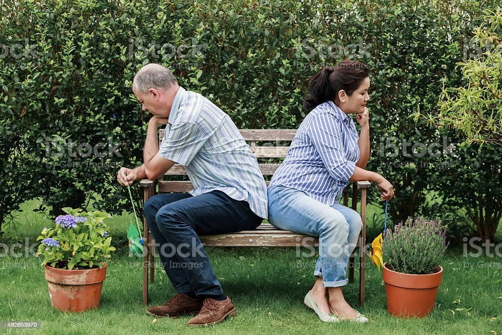 Conflict within family stock photo