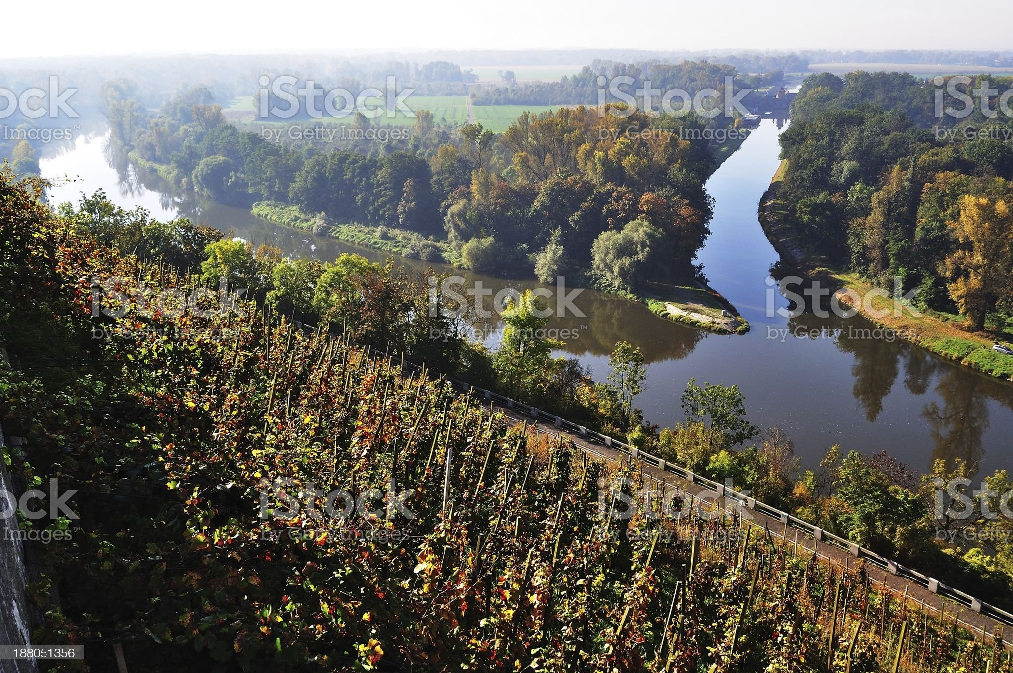 Confluence of the Vltava and Elbe. royalty-free stock photo