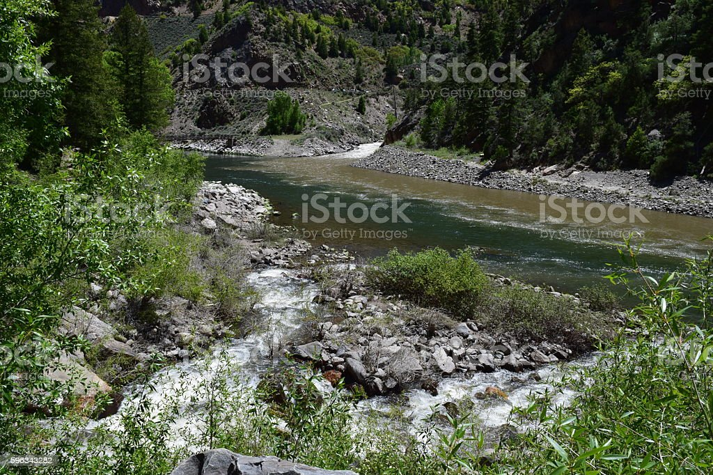 Confluence of Three Rivers stock photo