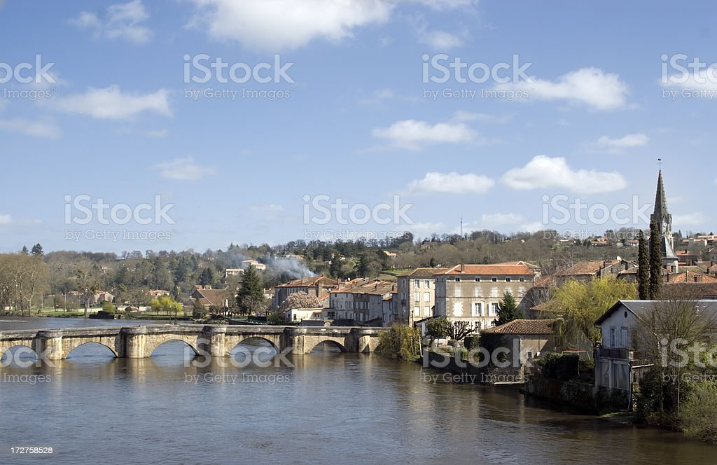 Confolens, France stock photo