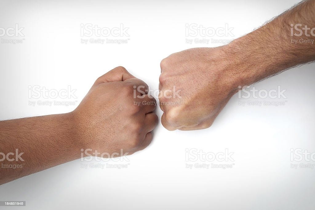 Confront fists royalty-free stock photo