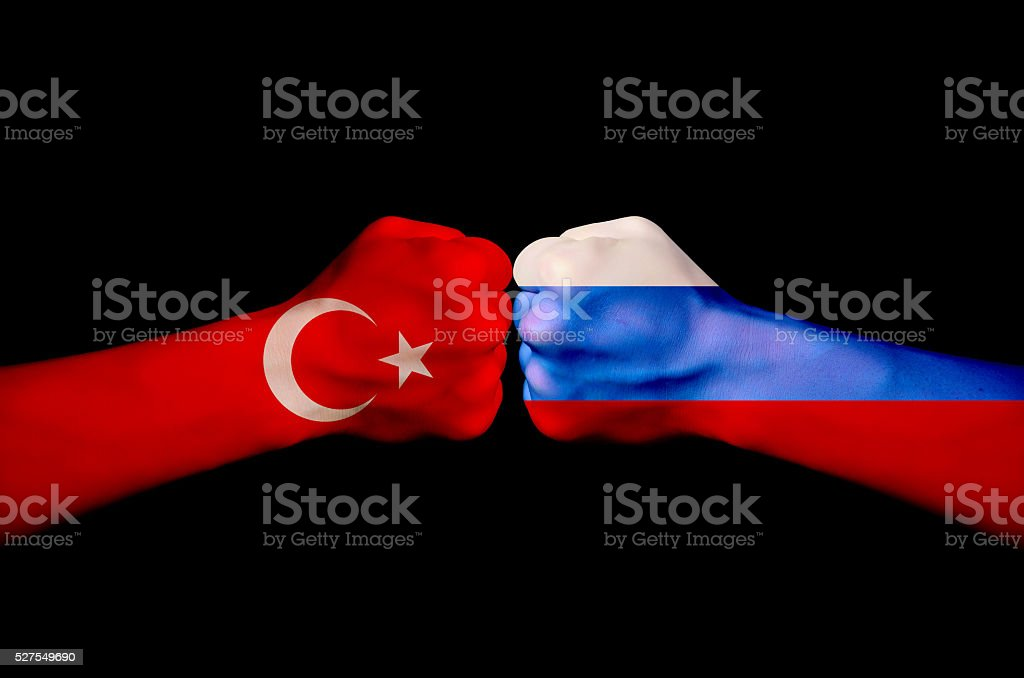 Confrontation between countries stock photo