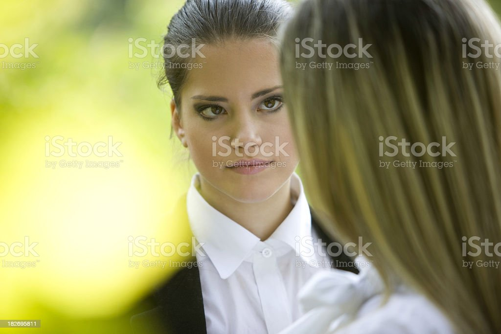 Confrontation stock photo