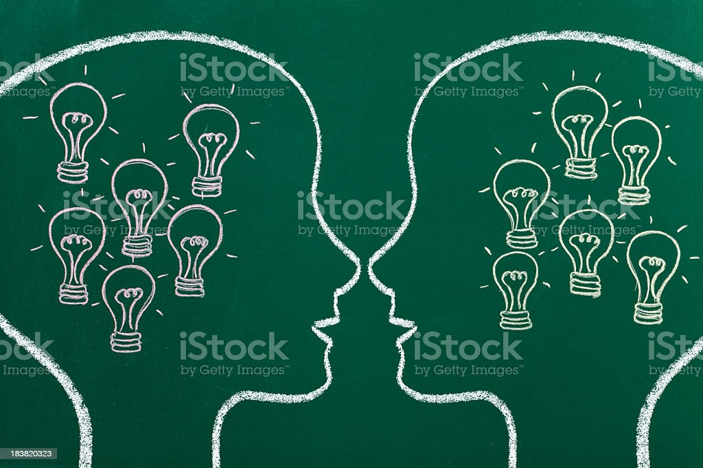Confronting ideas royalty-free stock photo
