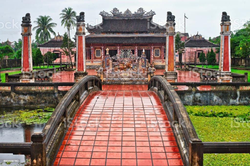 Confucian Temple, Hoi An, Quang Nam Province, Vietnam stock photo