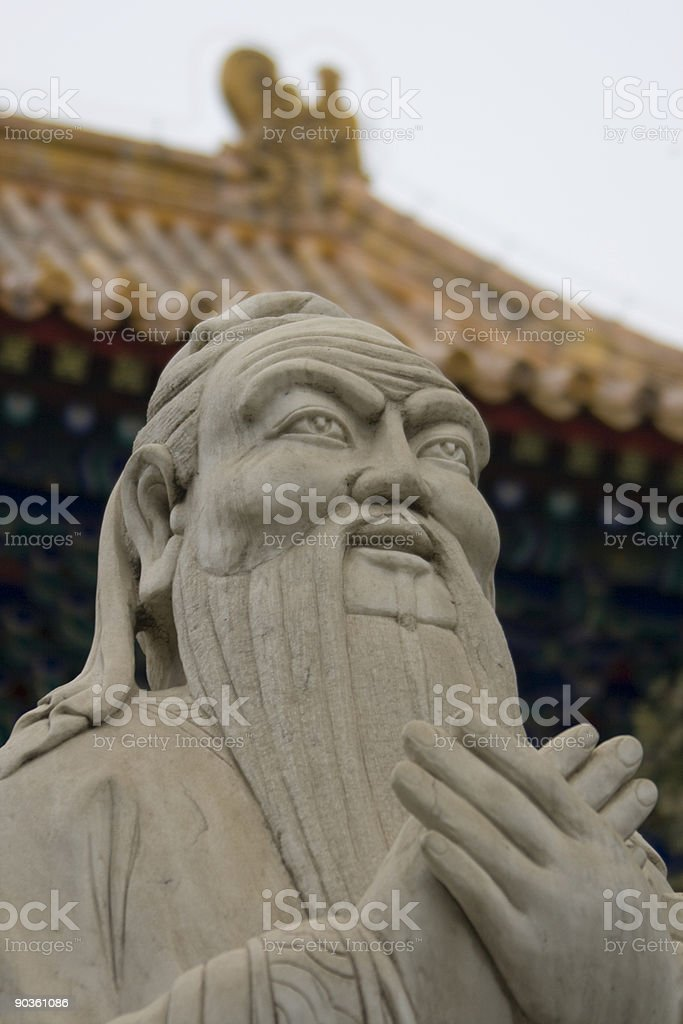 Confucious Temple, Beijing China stock photo