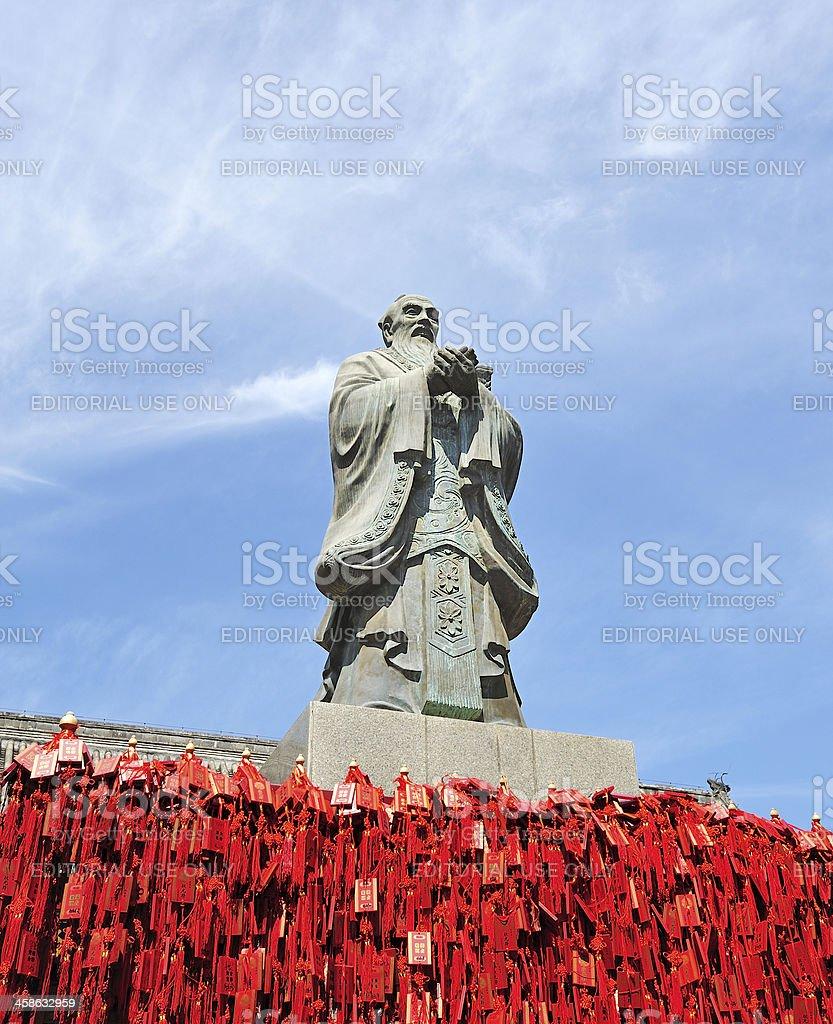 Confucius of statue stock photo