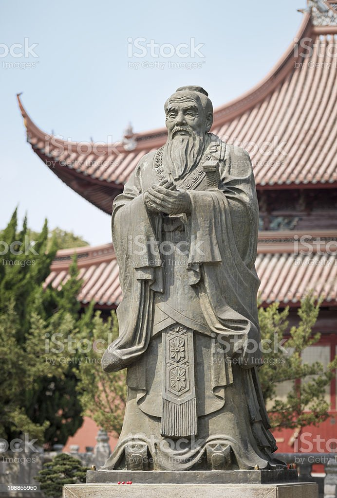 Confucius Statue and Temple in Suzhou, China stock photo