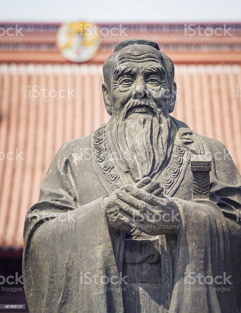 Confucius Statue close-up stock photo