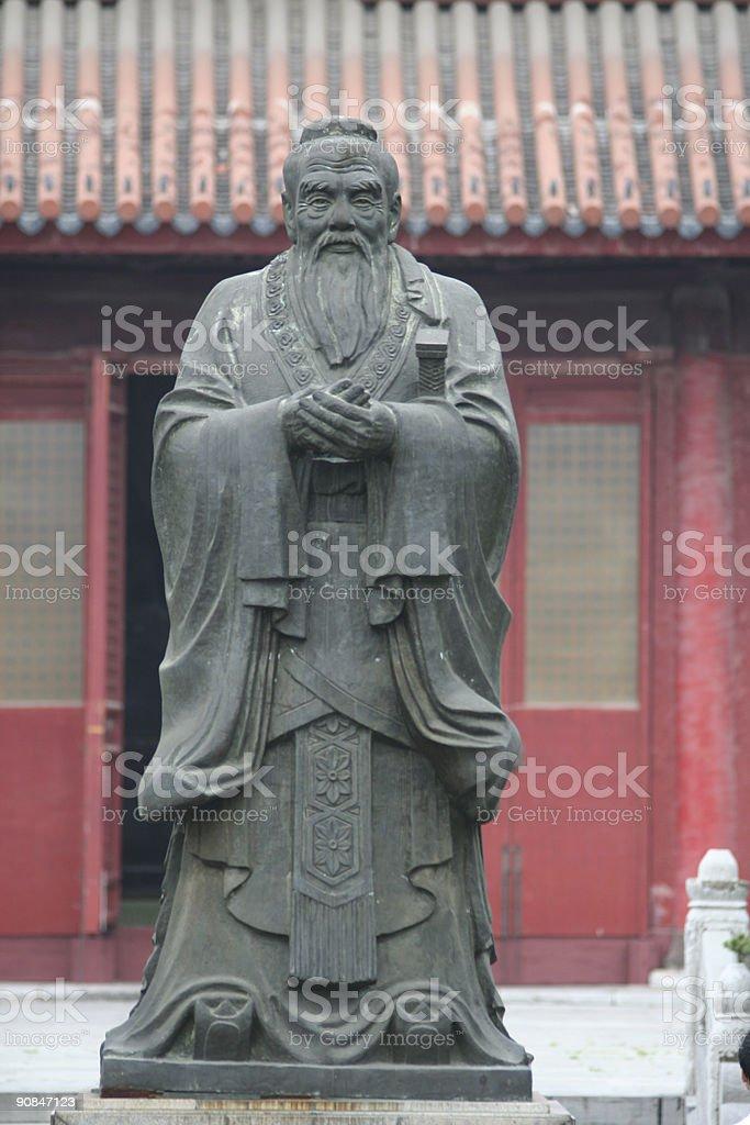 Confucius statue stock photo