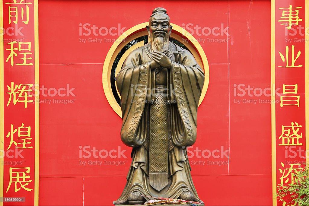 confucius statue wat traimet bangkok stock photo