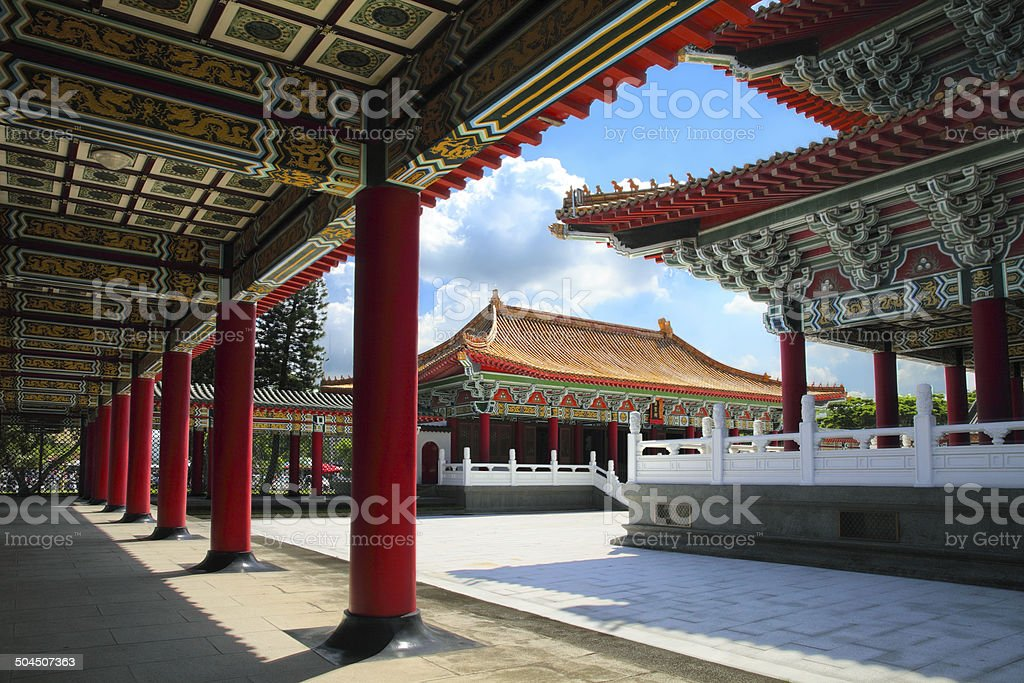 Confucius Temple in Kaohsiung stock photo