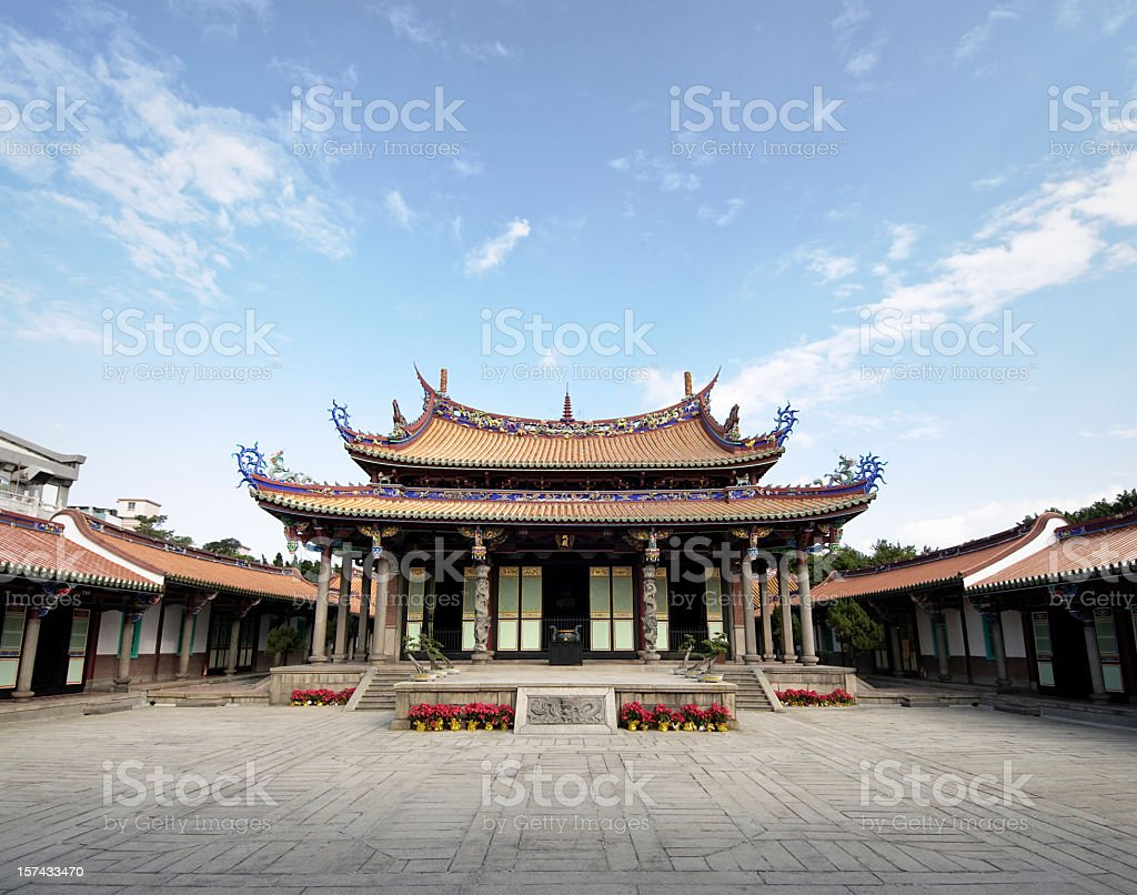 Confucius Temple in Taipei royalty-free stock photo