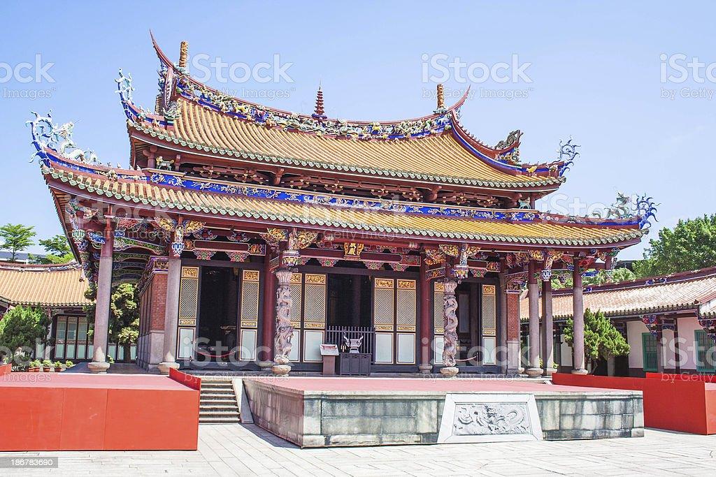Confucius Temple in Taipei, Taiwan stock photo
