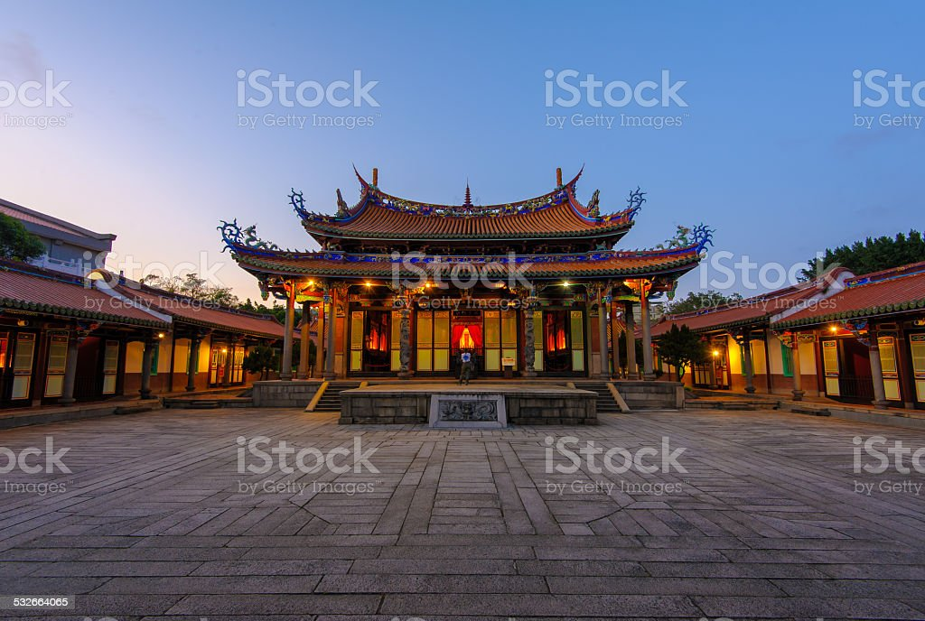 Confucius temple stock photo