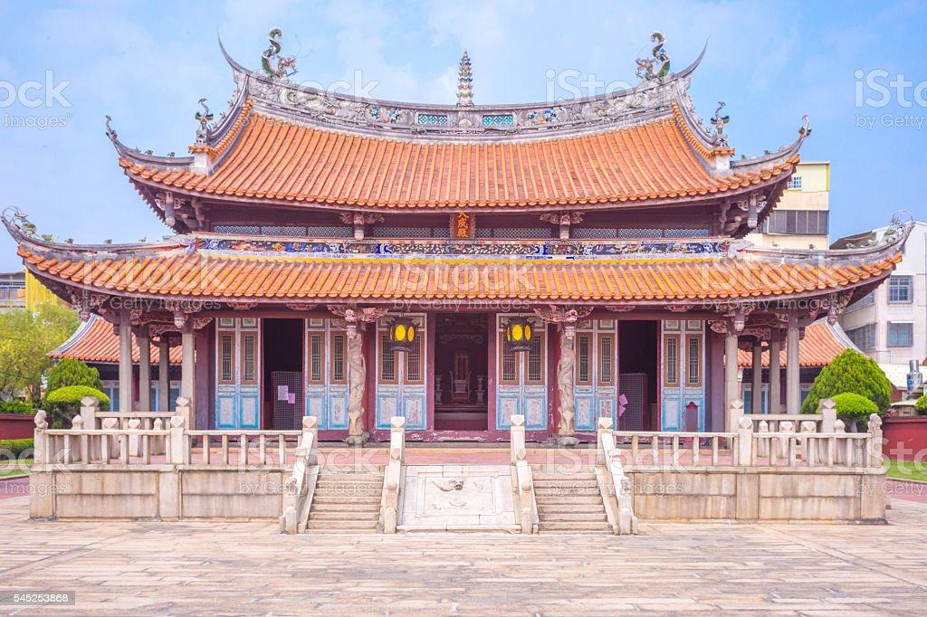 Confucius temple stock photo